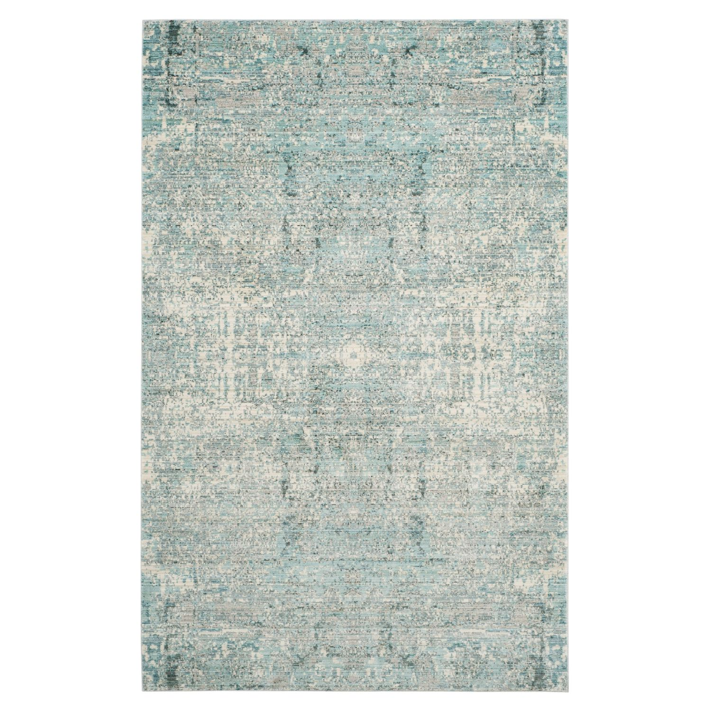Teppich Abella Vintage - Kunstfaser - Hellblau - Creme / Petrol - 152 x 243 cm, Safavieh