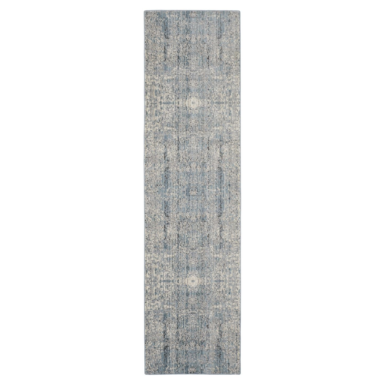 Teppich Abella Vintage - Kunstfaser - Hellblau - Creme / Petrol - 68 x 243 cm, Safavieh