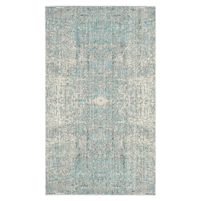 Teppich Abella Vintage - Kunstfaser - Hellblau - Creme / Petrol - 91 x 152 cm, Safavieh