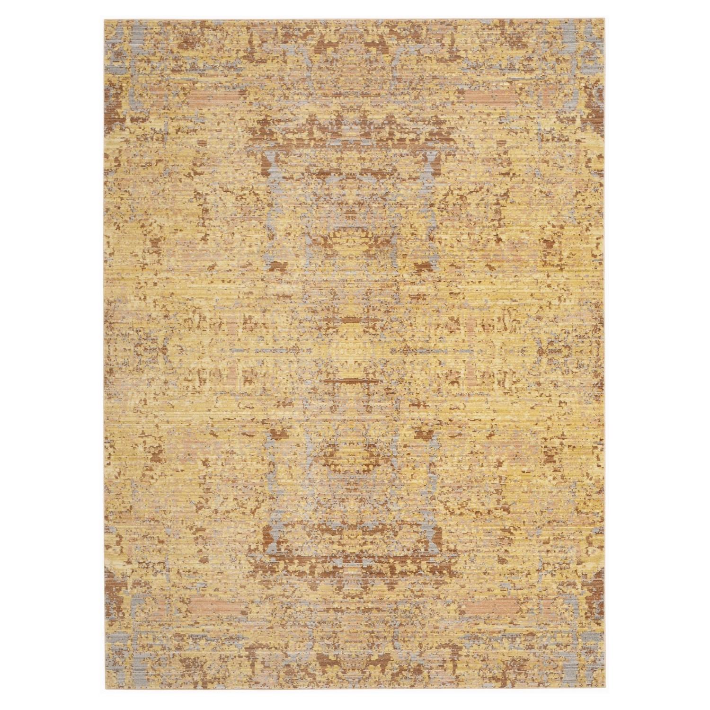 Teppich Abella Vintage - Kunstfaser - Gelb / Hellgrau - 243 x 304 cm, Safavieh