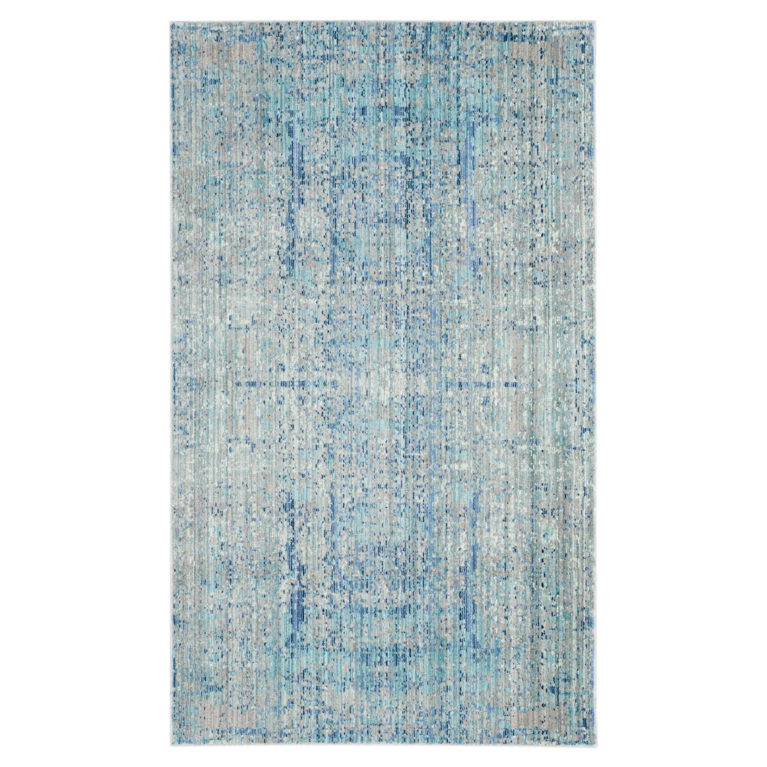 tapis abella vintage fibres synth tiques bleu clair bleu clair bleu gris 91 x 152 cm. Black Bedroom Furniture Sets. Home Design Ideas