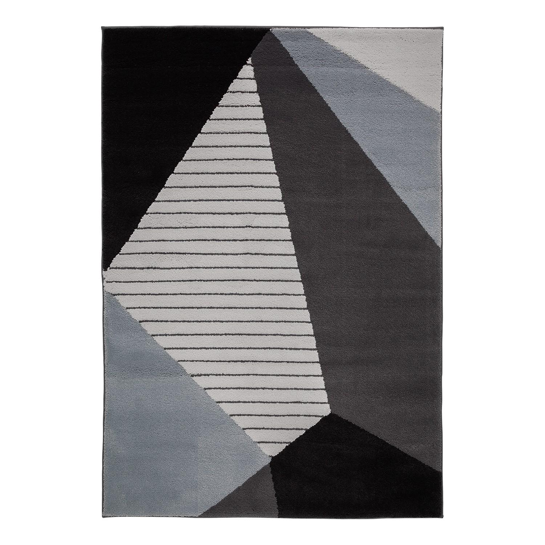 Teppich Alaska II - Webstoff - Grau / Schwarz, Studio Copenhagen
