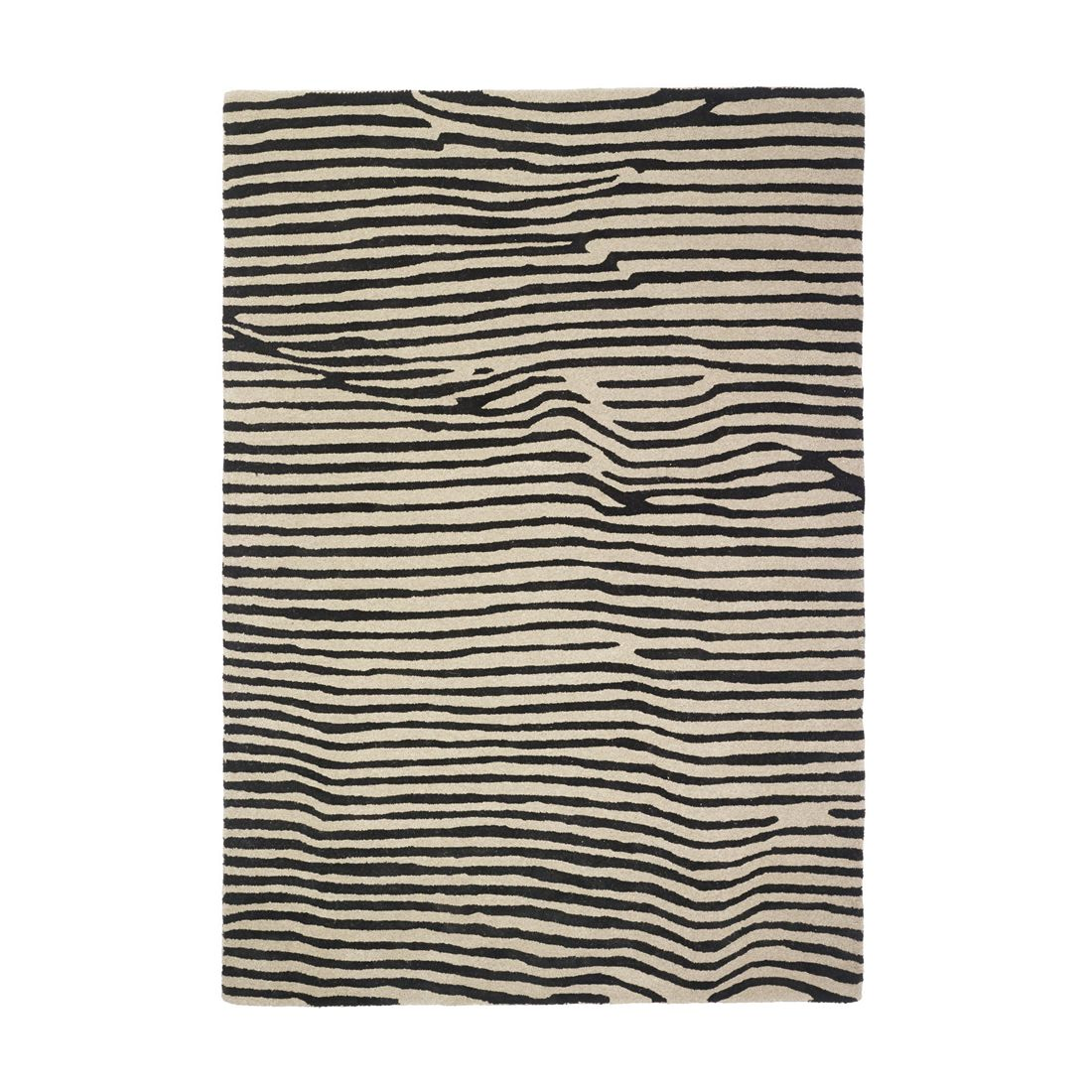 Teppich Andes - Wolle - Schwarz/Grau - 120x180, Pure Day