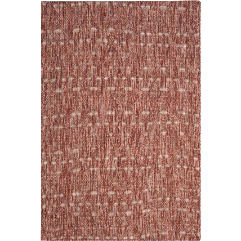 Tapijt Biarritz - kunstvezel - Rood - 200x289cm, Safavieh