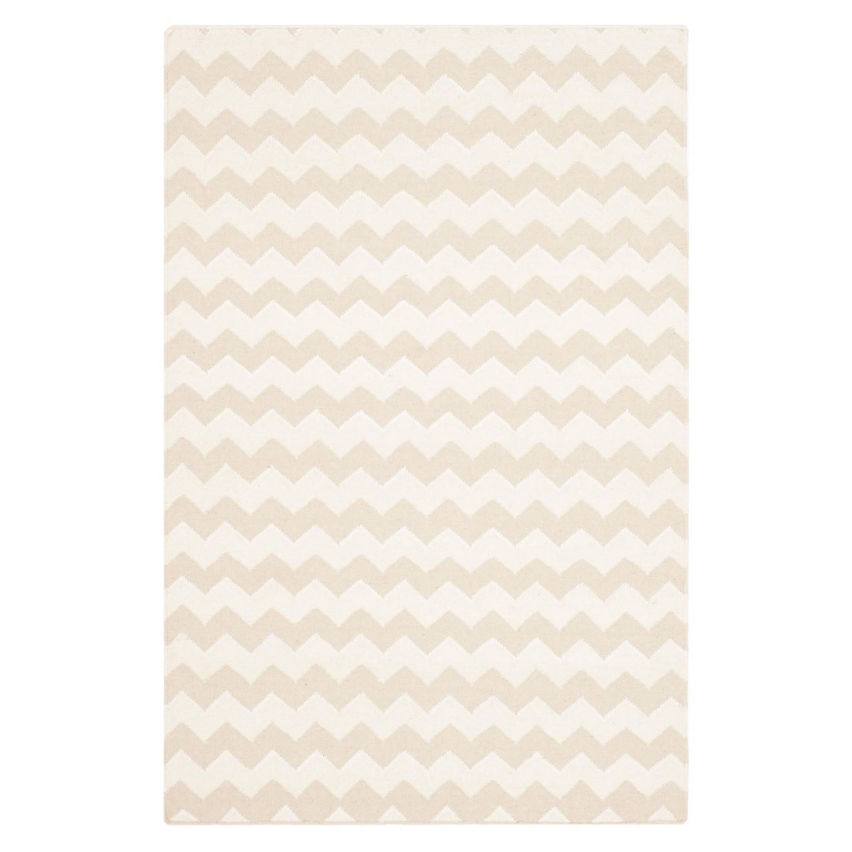 Home 24 - Tapis blair dhurrie - tissu mélangé - beige / blanc - 121 x 182 cm, safavieh