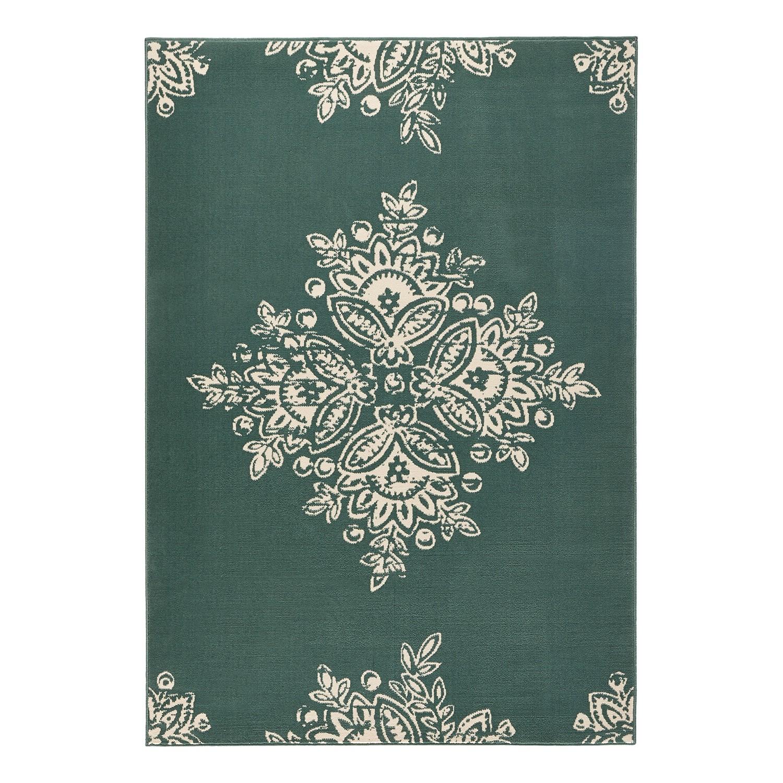 Tapijt Blossom - kunstvezels - Groen - 160x230cm, Hanse Home Collection