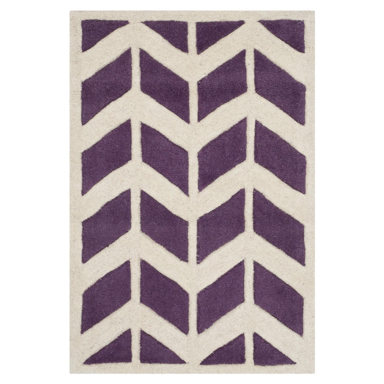 Teppich Brenna - Violett/Elfenbein - Maße: 60 x 91 cm, Safavieh