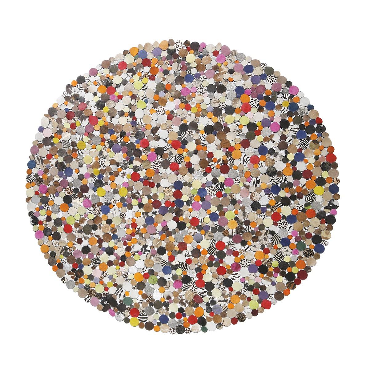 Tapijt Circle Multi - rundsleer/meerkleurig - 150cm, Kare Design