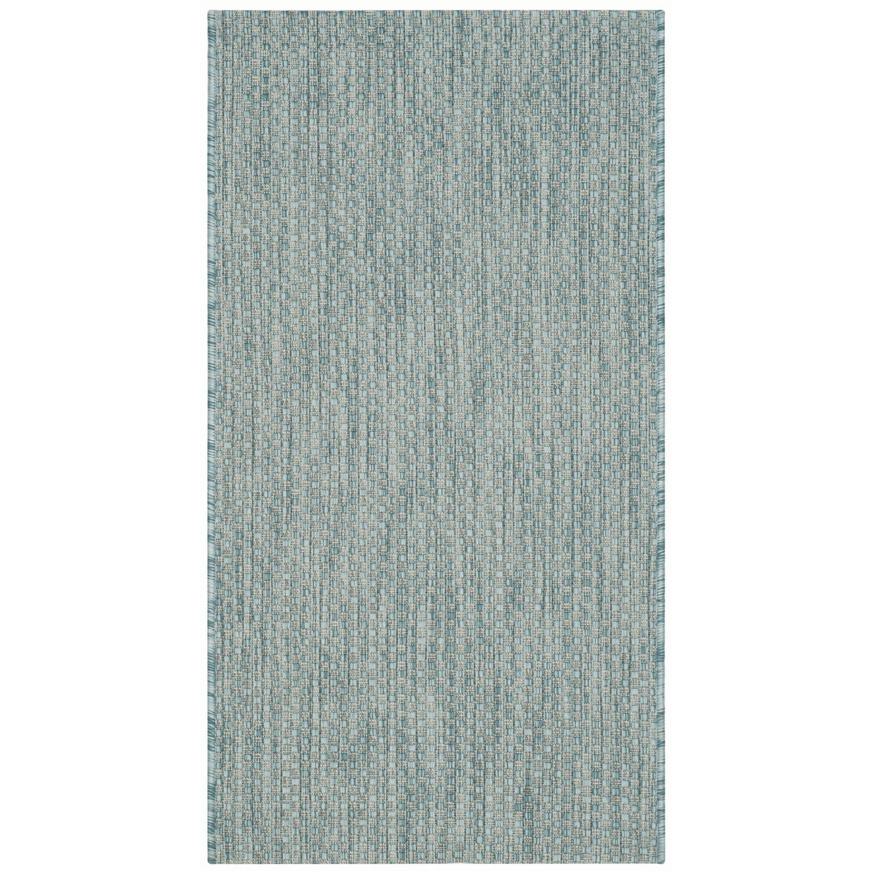 In & Outdoor Teppich Como - Kunstfaser - Petrol - 78 x 152 cm, Safavieh
