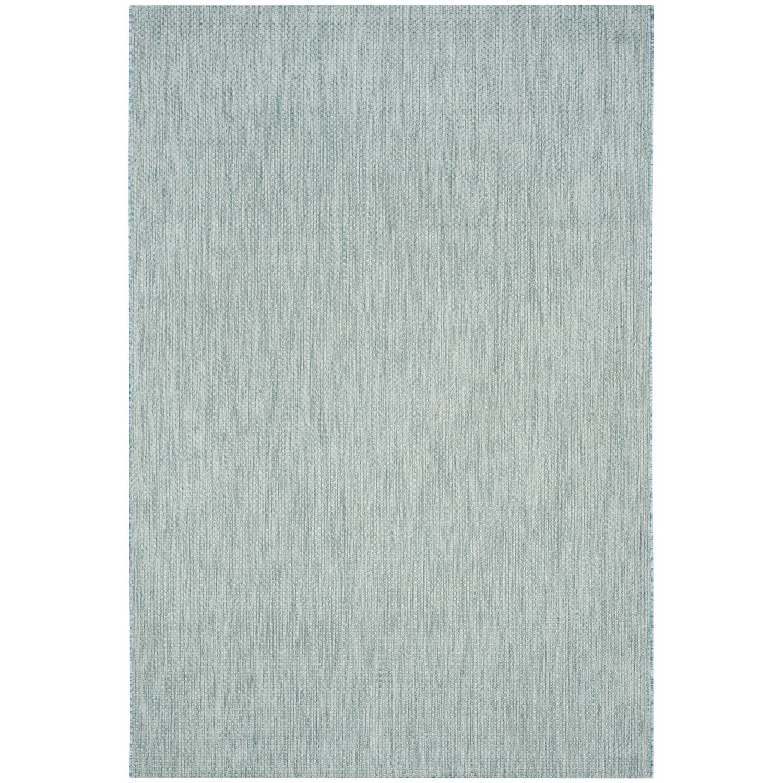 In & Outdoor Teppich Como - Kunstfaser - Petrol - 200 x 289 cm, Safavieh