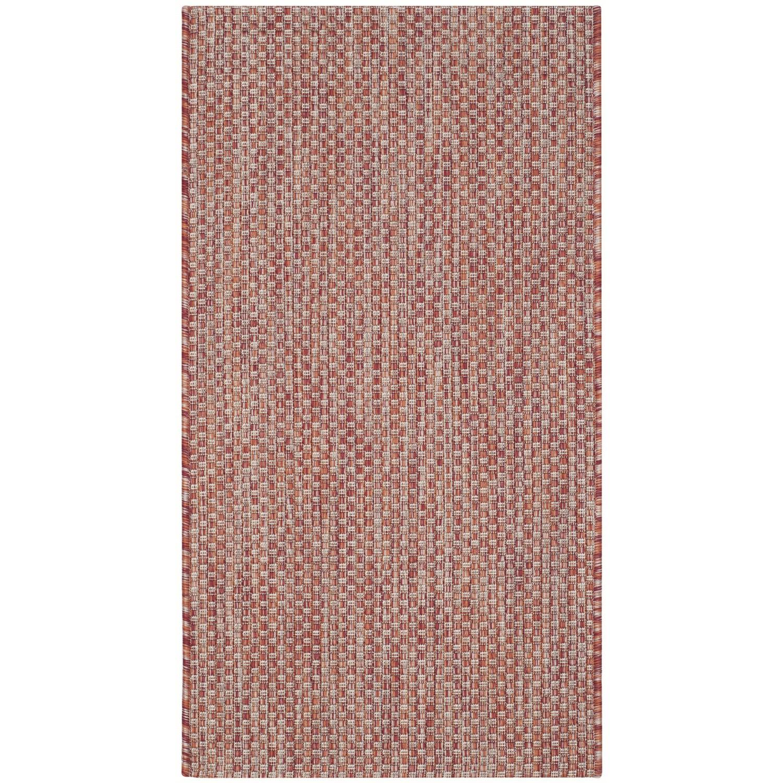 Tapijt Como - kunstvezel - Rood - 78x152cm, Safavieh