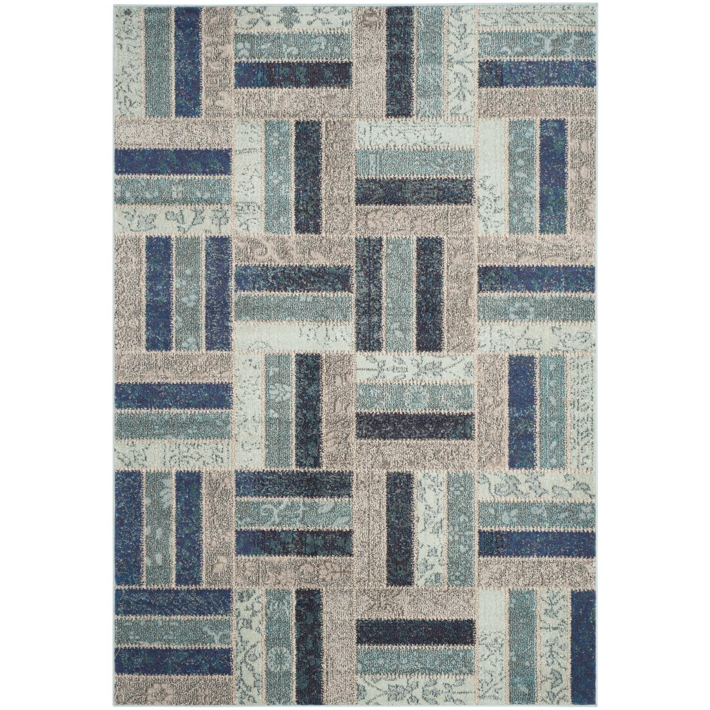 Teppich Cordova - Kunstfaser - Cappucino / Petrol - 154 x 231 cm, Safavieh