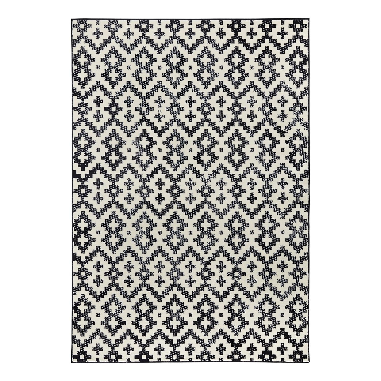 teppich duo kunstfaser schwarz beige 140 x 200 cm zala living. Black Bedroom Furniture Sets. Home Design Ideas