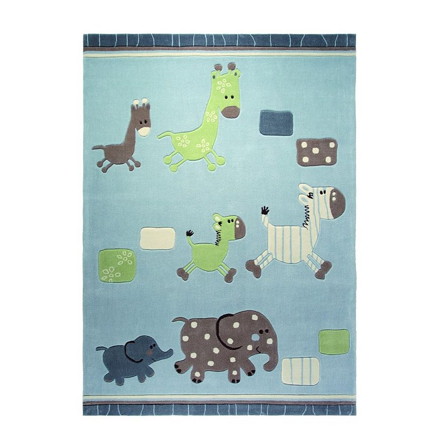 Tapijt ESPRIT Lucky Zoo   blauw bont   120x180cm_ Esprit Home