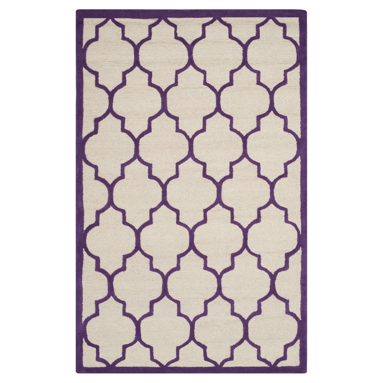 Teppich Everly - Elfenbein/Violett - Maße: 152 x 243 cm, Safavieh