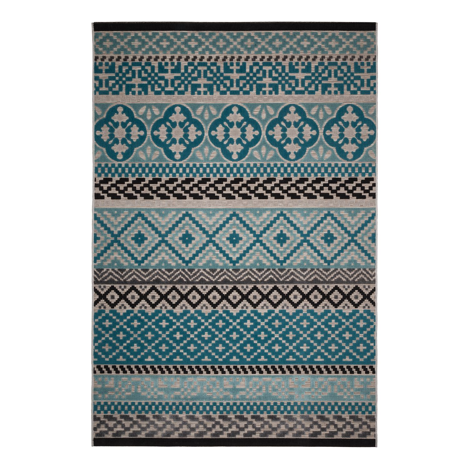 tapis flow i tissu turquoise beige 120 x 170 cm ars manufacti le fait main. Black Bedroom Furniture Sets. Home Design Ideas