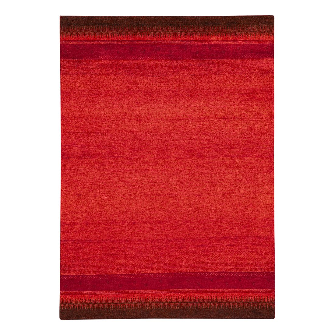 Tapijt Indo Gabbeh Vizianagaram - rood - 100% scheerwol - 120x180cm, Parwis