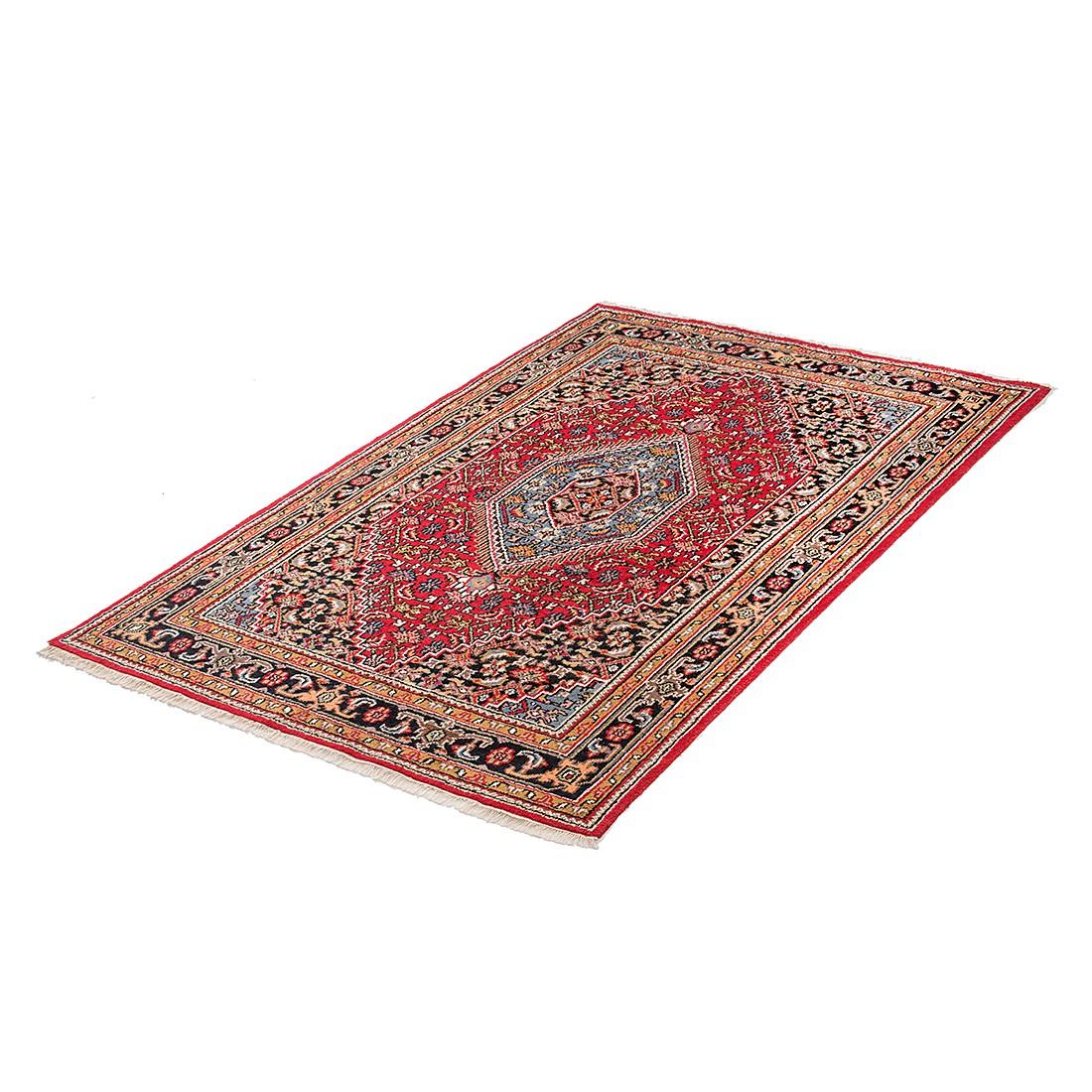 Tapijt Indo Hyderabad - rood - wol - 70x140cm, Parwis