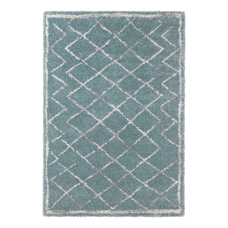 Tapijt Loft - kunstvezel - blauw/crèmekleurig - 160x230cm, Norrwood