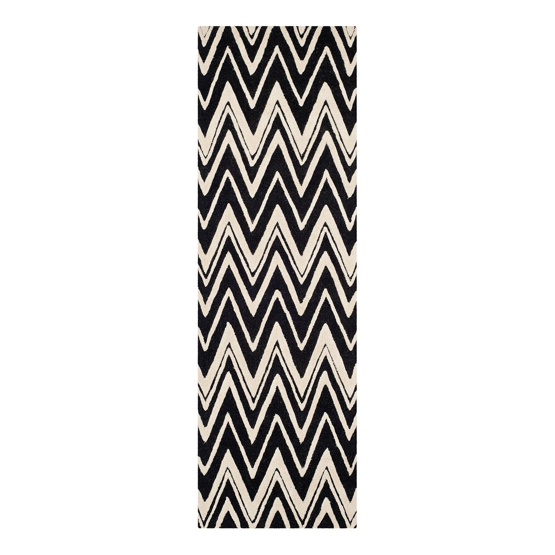 Home 24 - Tapis luca - noir / blanc - 60 x 91 cm, safavieh