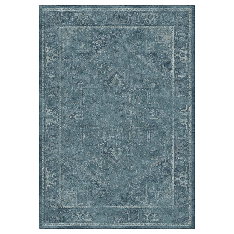 Teppich Maxime Vintage - Kunstfaser - Petrol / Grau - 243 x 340 cm, Safavieh