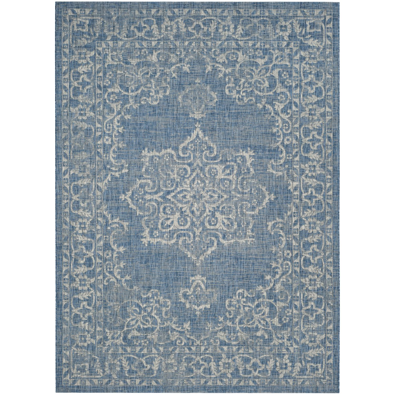Tapijt Mirabelle - kunstvezel - Blauw/wit - 160x231cm, Safavieh