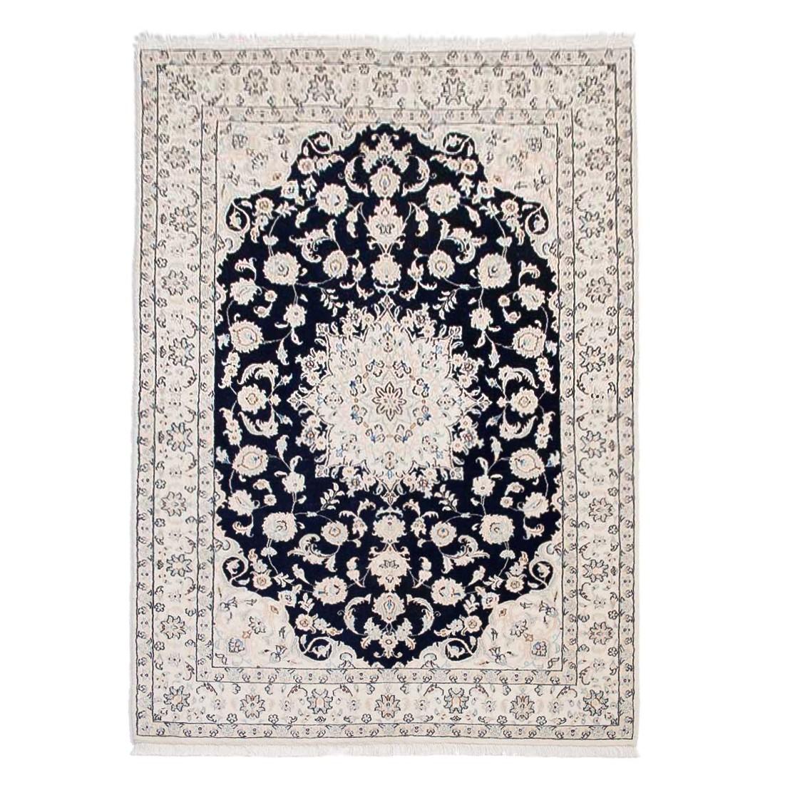 Tapijt Nain Scherkat Royal - blauw 100% scheerwol 120x200cm, Parwis