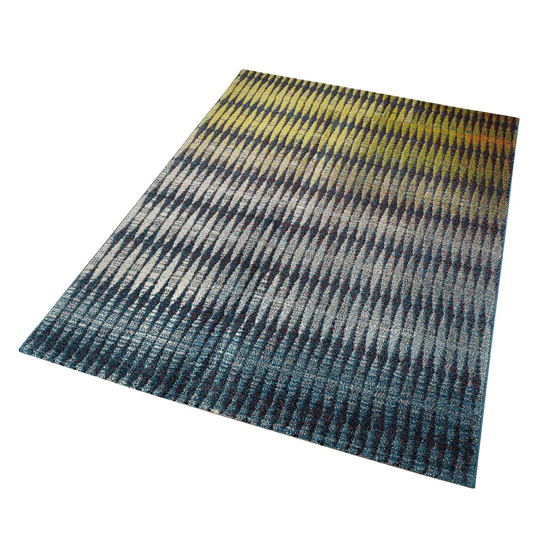 teppich ocean view kunstfaser gelb grau 120 x 170. Black Bedroom Furniture Sets. Home Design Ideas