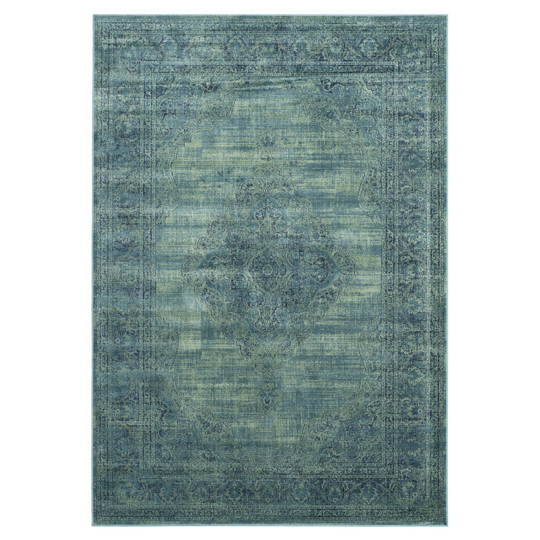 Tapijt Olivia - vintage look turquoise 122x171cm, Safavieh