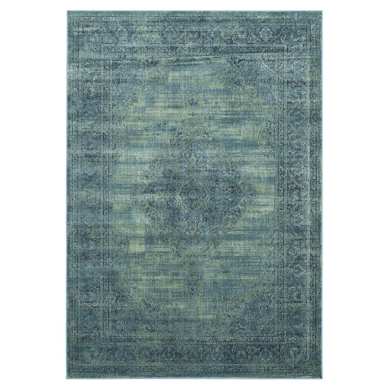 Tapijt Olivia - vintage look turquoise 161x232cm, Safavieh