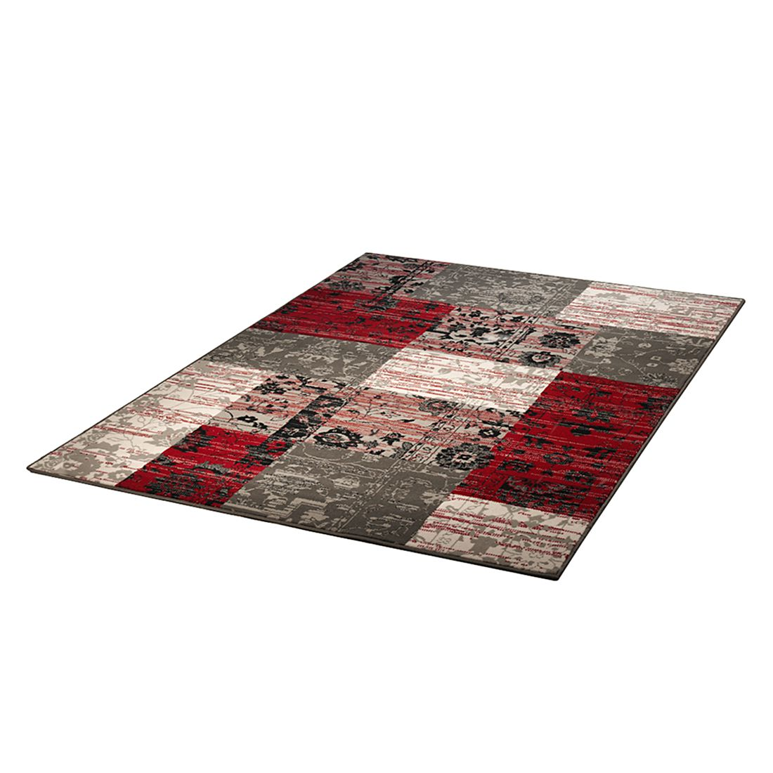 Tapijt Prime Pile Billy Jean - grijs/rood - 80x150cm, Hanse Home Collection