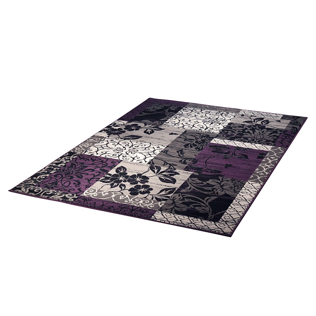Teppich Prime Pile Line - Schwarz/Violett - 60 x 110 cm, Hanse Home Collection