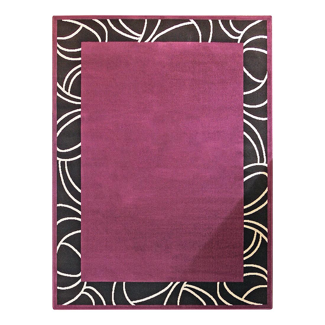 Teppich Prime Pile Bordüre - Schwarz/Violett - 190 x 280 cm, Hanse Home Collection