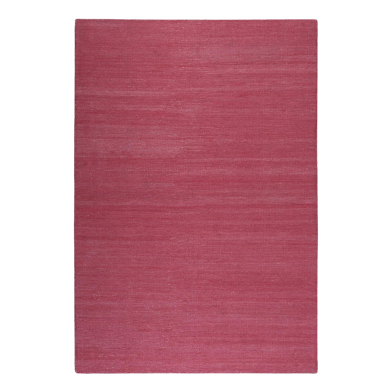 Vloerkleed Rainbow Kelim - handgeweven - katoen - Wijnrood - 80x150cm, Esprit Home