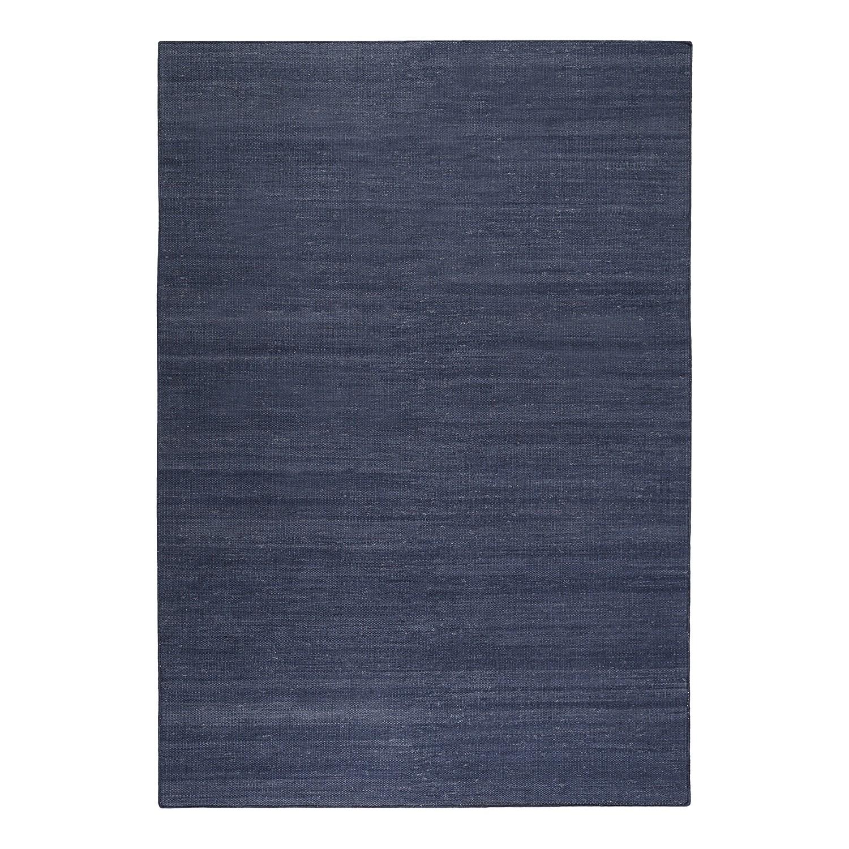 Teppich Rainbow Kelim handgewebt - Baumwollstoff Marineblau 160 x 230 cm Sale Angebote Roggosen