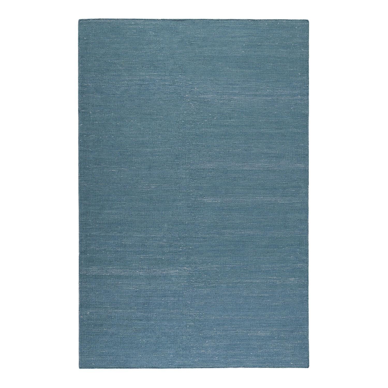 Teppich Rainbow Kelim handgewebt - Baumwollstoff - Petrol - 160 x 230 cm, Esprit