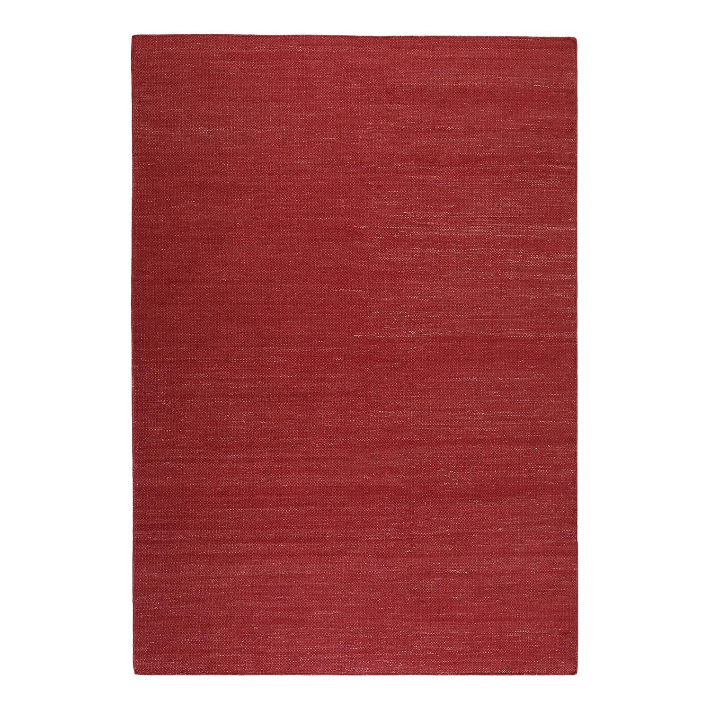 Vloerkleed Rainbow Kelim - handgeweven - katoen - Kersenrood - 80x150cm, Esprit Home