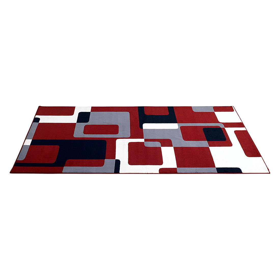 Tapijt Retro - 120x170cm - Rood/zwart/grijs, Hanse Home Collection