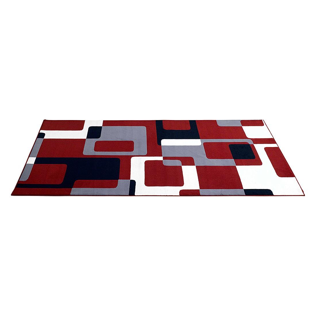Tapijt Retro - 80x150cm - Rood/zwart/grijs, Hanse Home Collection