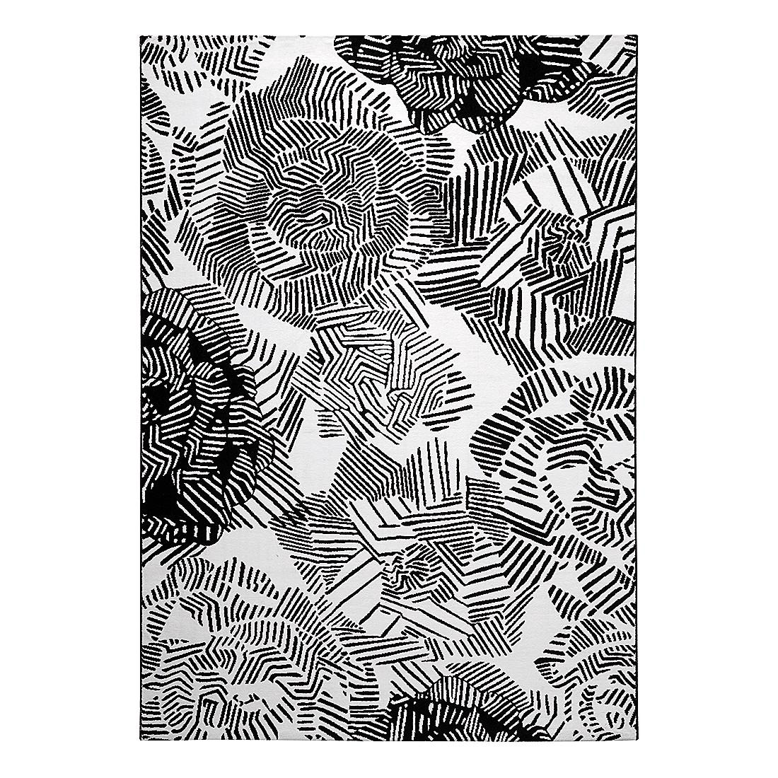 Teppich Rosia - Kunstfaser - Schwarz / Weiß - 160 x 225 cm, Esprit Home