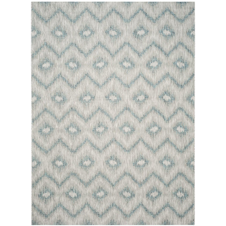 Teppich Safi - Kunstfaser - Sahara / Petrol - 243 x 304 cm, Safavieh