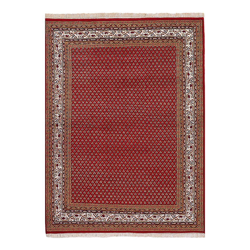 Home 24 - Tapis sarough mir - rouge pure laine vierge, parwis