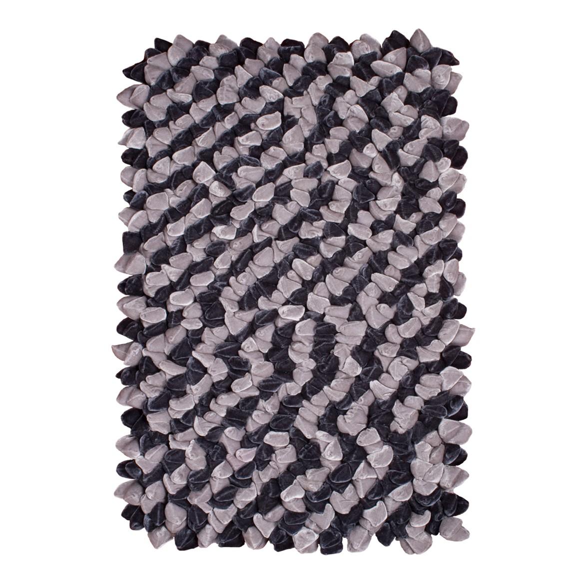 Teppich Sethos - Kunstfaser - Anthrazit / Hellgrau - 160 x 230 cm