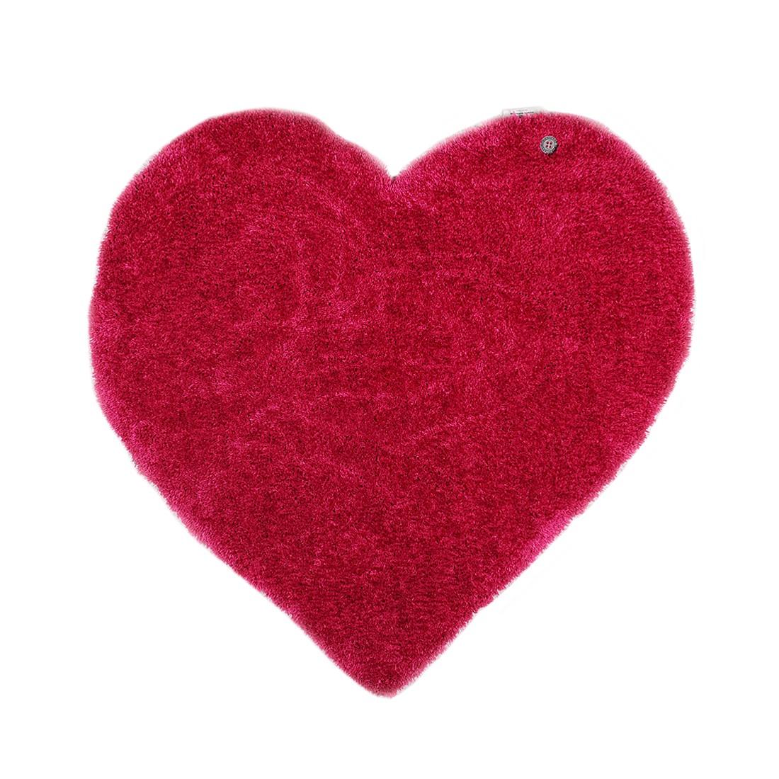 Home 24 - Tapis soft heart - rose vif - 100 x 100 cm, tom tailor
