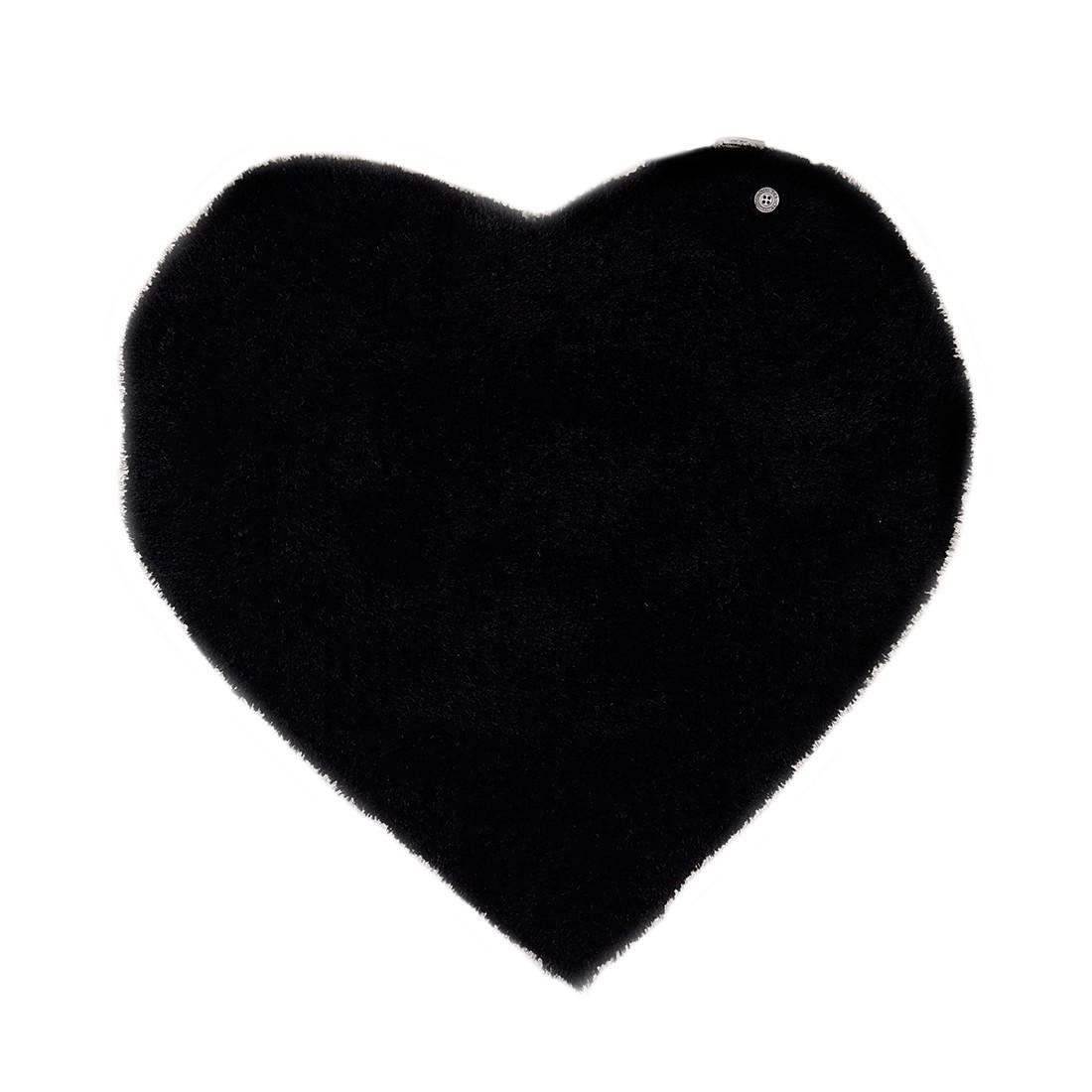 Home 24 - Tapis soft heart - noir - 100 x 100 cm, tom tailor