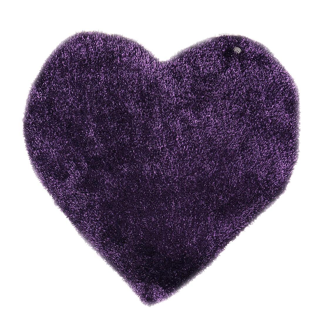 Teppich Soft Heart - Violett - Maße: 100 x 100 cm, Tom Tailor