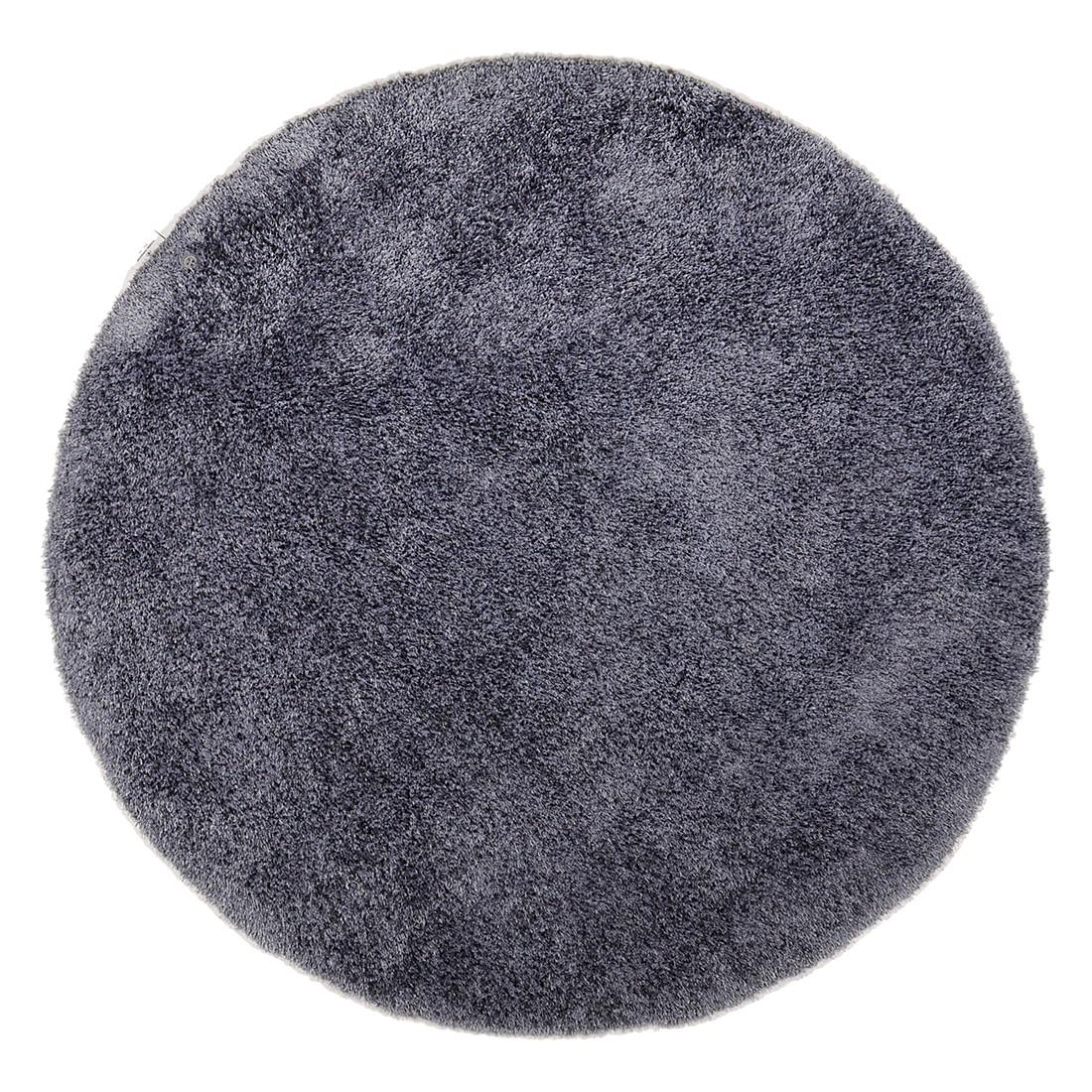 Teppich Soft Round - Anthrazit - Maße: 140 x 140 cm, Tom Tailor