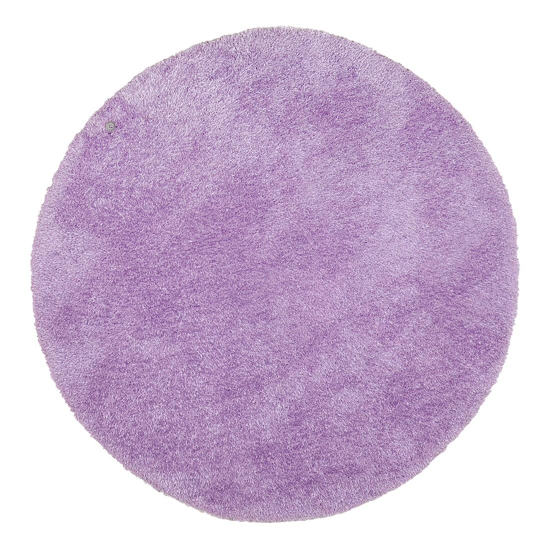 Teppich Soft Round - Hell Violett - Maße: 140 x 140 cm, Tom Tailor