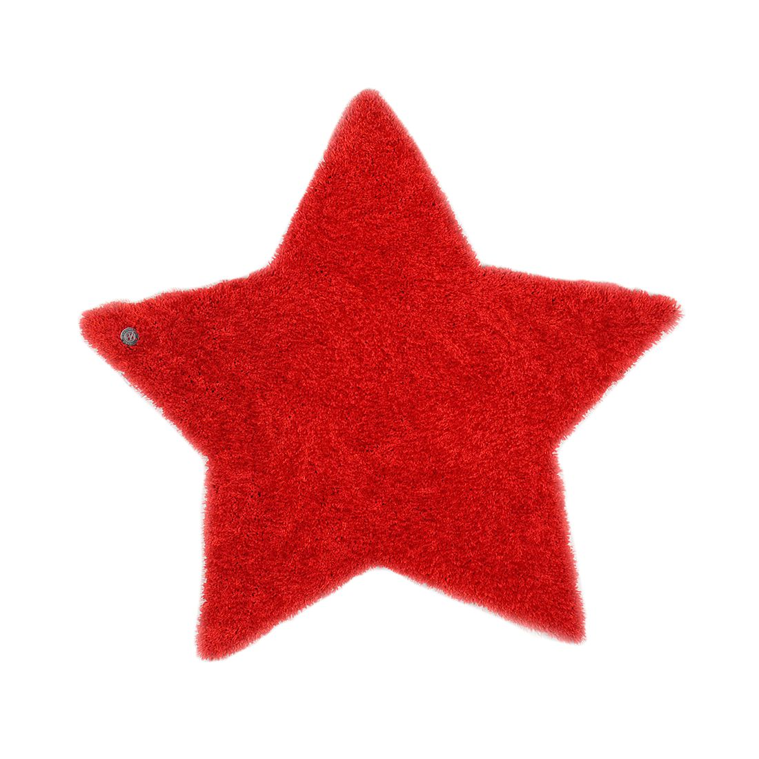 Home 24 - Tapis soft star - rouge - 100 x 100 cm, tom tailor