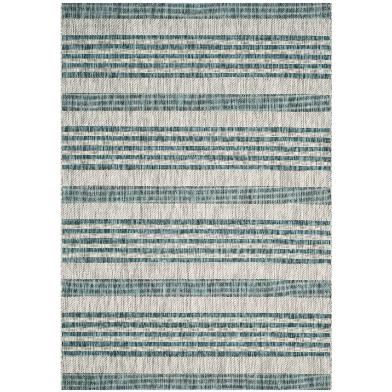 In & Outdoor Teppich Wilshire - Kunstfaser - Chasmere / Petrol - 160 x 231 cm, Safavieh